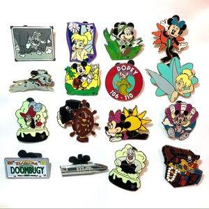 Disney Pin Lot- 16 Pins